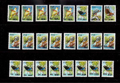 Fiji Overprint Bird Stamps Issued 2010 To 2016 Inclusive 24 Different All Um Mnh