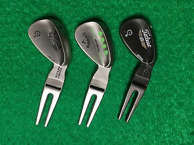 Titleist Vokey Divot Tool Pitch Repair Brushed Steel