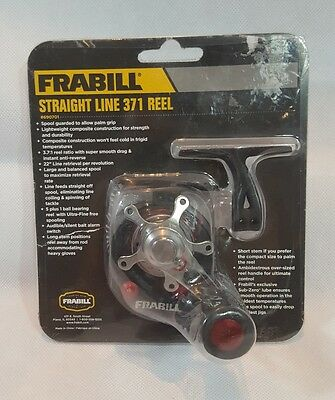Frabill 690701 Straight Line 371 Ice Fishing Reel in Clamshell Pack, Black