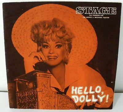 1967 Hello Dolly Stage Program Betty Grable Cover Morris A. Mechanic Theatre