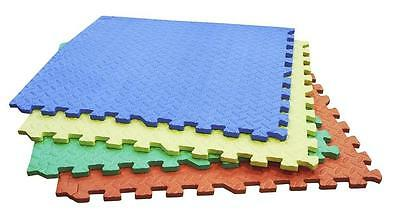 Rolson 4 Piece Coloured Interlocking Floor Mat Set 60821