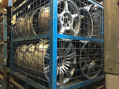Heavy Duty Warehouse Storage Cages Pallets Stackable Side Hatch Metal Steel