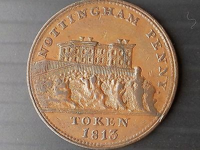 Nottingham Penny Token Payable By M Fellows 1813. (British)