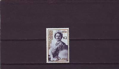 a129 - ZAMBIA - SG668 MNH 1991 SURCH 2k ON 45n - QUEEN MOTHER - CV £90.00
