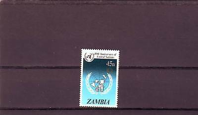 a129 - ZAMBIA - SG669 MNH 1991 SURCH 2k ON 45n - UN ANNIV - CV £45.00