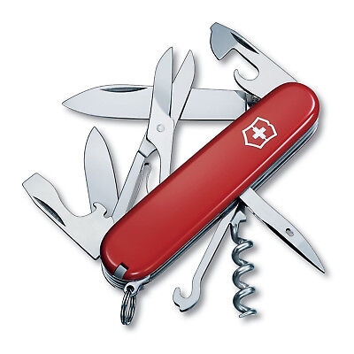 Victorinox Swiss Army Climber Pocket Knife Red