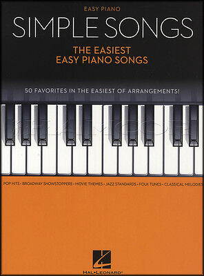 Simple Songs Easy Piano Sheet Music Book 50 Favorites Beatles Frozen Do-Re-Mi