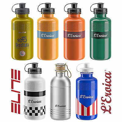 Elite Eroica Vintage Style Water Bottles - Various Classic Designs Available