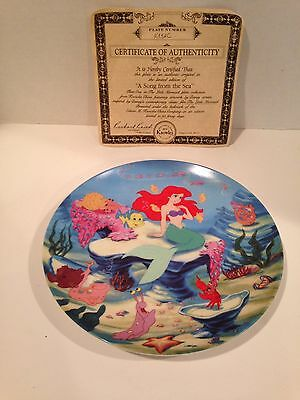 Disney A Song From The Sea From Little Mermaid Knowles Collectors Plate
