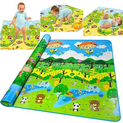 Multi-Coloured Soft Baby Play Crawling Pad Rug Mat Floor Game Animals HE8Y
