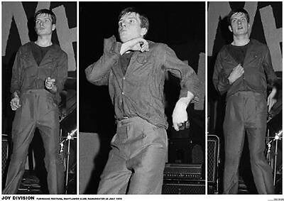 Joy Division Ian Curtis 3 Live Pics Poster Free US Shipping 23.5 x 33 UK import