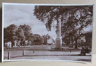 Old Town Street Scene Real Photo Postcard - Grantown-On-Spey Moray Scotland