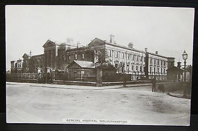 1913 Real Photo Postcard - General Hospital Wolverhampton West Midlands