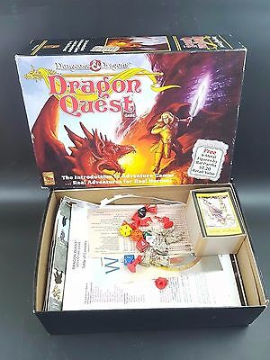 Dungeons & Dragons DRAGON QUEST Role Playing Board Game Vintage Complete