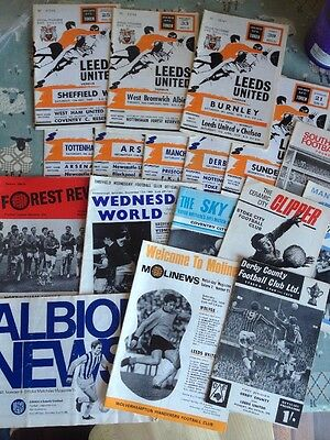 Leeds 1969/70 Season Home & Away Manchester United Spurs Liverpool Derby