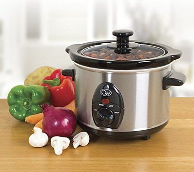 Quest 1.5L Stainless Steel Slow Cooker 120W