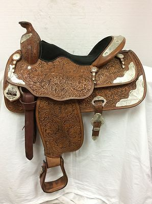 "Limited Edition Big Horn Western Show Saddle Used 16"" Regular Quarter Horse Bar"