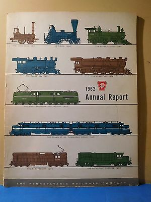 PRR Annual Report 1962 Soft Cover 64 Pages Pennsylvania Railroad Company