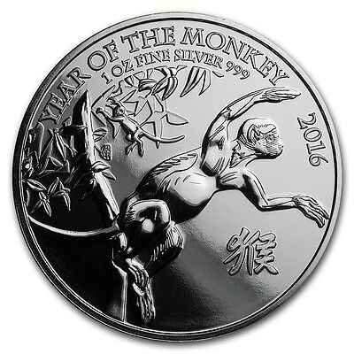 Year of the Monkey 1oz Fine Silver .999 2016 Coin