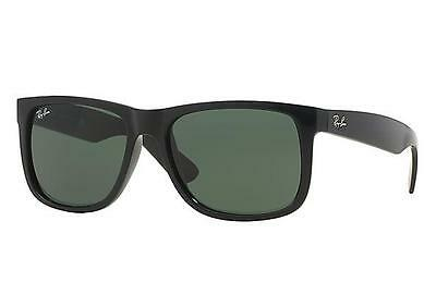 Ray-Ban Sunglasses - New & Authentic JUSTIN RB 4165 601/71 Black/Grey Green 54mm