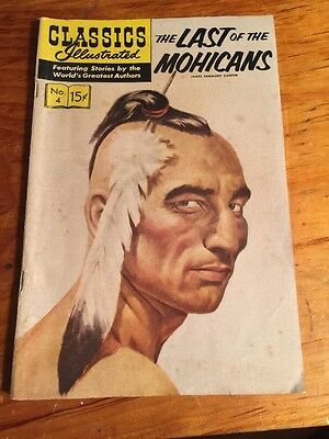 Classics Illustrated Comic Book (THE LAST OF THE MOHICANS) 1964  Good