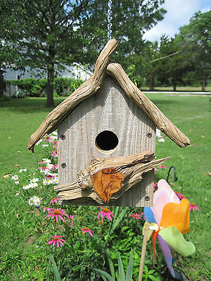 """rustic Style Barn Wood Bird House"", Hand Crafted, New"