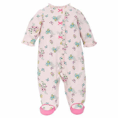Little Me Girl's One Piece Sleeper Pink Print US Size 9M NWT