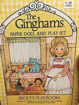 1976 The Ginghams - Becky's Playroom Paper Doll And Playset - Unopened