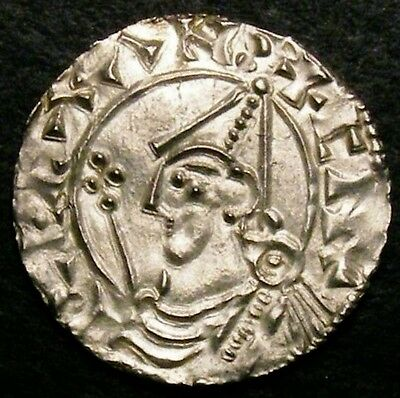1016 King Cnut Silver Penny Pointed Helmet CGS 75 (MS62-63) ☆☆ Price Reduced ☆☆
