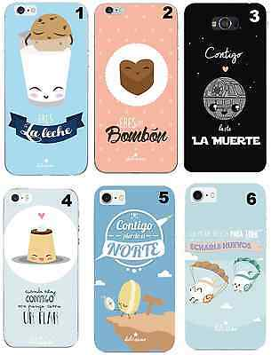 TPU Gel Silicona Carcasa Funda Apple iPhone 5 5S 6 6S Plus 7 DIBUJOS FRASES