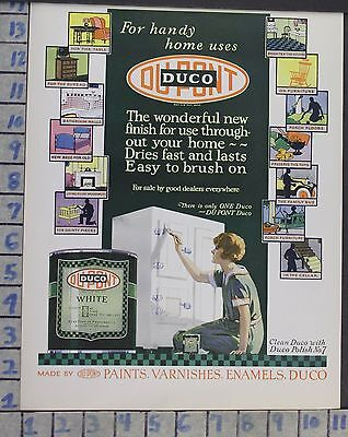 1926 Duco Paint Ice Box Chest Interior Diy Home Decor Vintage Art Ad  Cg98