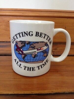 Vintage Getting Better All the Time FedEx White Ceramic Coffee Cup Mug