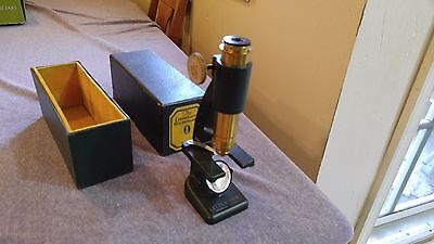 Rare Vintage Bausch & Lomb The LITTLE GEM Microscope in Original Box