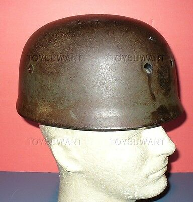Ww2 German Fallschirmjager Paratrooper Helmet Battle Damage Original Relic M38
