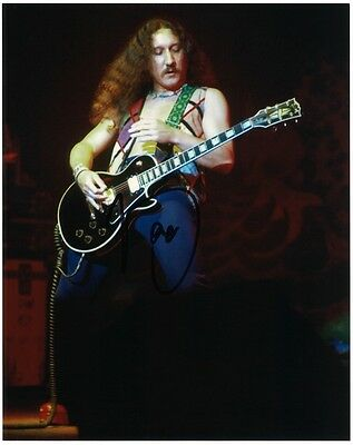 MICK BOX 8x10 Photo URIAH HEEP Easy Livin' Lady in Black Guitar Autograph SIGNED