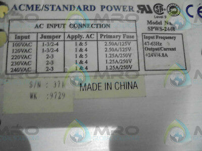 Acme/standard Power Spws-2448 Power Supply *used*