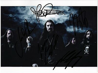 DREAM THEATER 8x10 Photo FULLY SIGNED John Petrucci Mike Portnoy Myung AUTOGRAPH