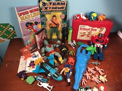 Lot 80s Toys Cereal Premiums Him all Mad Libs Transformer Mumrah Rambo Muscle