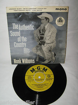 Hank Williams-The Authentic Sound Of Country Hits EP 1959 Superb Copy