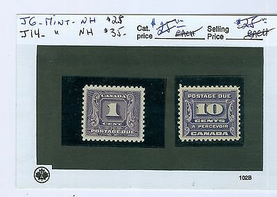 Canada Stamps: J6 And J-14; both Mint NH..Cat:$60