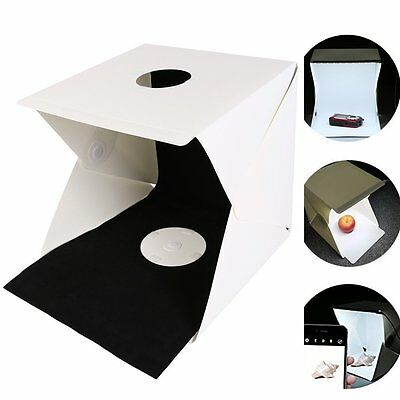 NOPTEG Folding Portable Photo Studio Lightbox Shooting Tent with Led Strip Light
