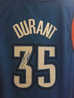 Golden State Warriors Nba Finals Mvp Kevin Durant Signed Jersey With Proof & Coa