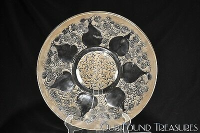c. 1921 No. 3019 VASES PLATE by Rene Lalique CRYSTAL w/LIGHT STAIN - VDA Mark