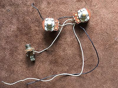 1977 Fender Precision Bass Pots and Jack Harness