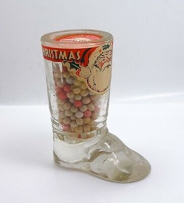 Rare Santa Claus's Boot 1930s/40s Candy Sealed Container Orig Contents Labels