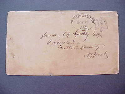 California: Sacramento 1850s Stampless Cover, 40c Rate to NY + Certificate