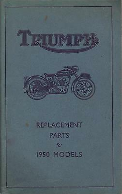 Triumph Thunderbird 3T De Luxe Speed Twin Tiger 100 Original 1950 Part Catalogue