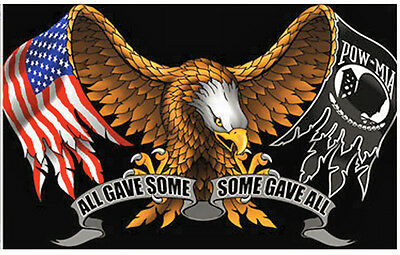 "Small Biker Flag  All Gave Some,some Gave All  Motorcycle Flag Biker 6"" X 9"" New"