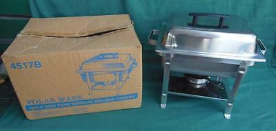 POLAR WARE 4517B 4qt COVERED CASSEROLE HALF SIZE CHAFER CHAFING UNIT CATERING