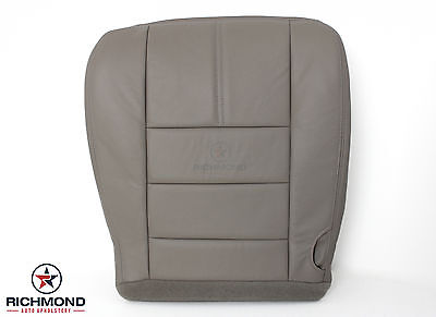 2008-2010 Ford F250 F350 Lariat 2WD 4X4 -Driver Bottom LEATHER Seat Cover Gray